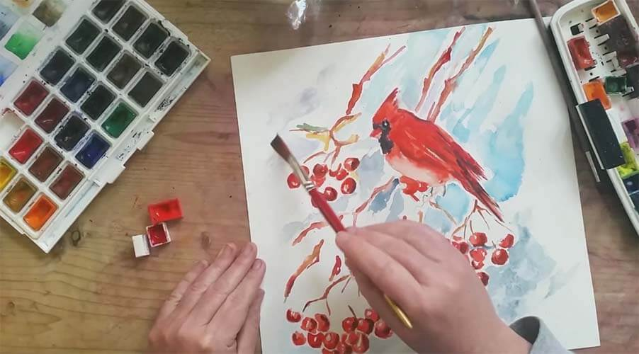 Look what lessons will be in March? NATUREART 2019 SPRING online workshop