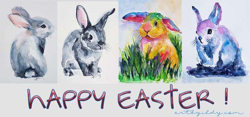 HAPPY EASTER dear artfriends free bunny video