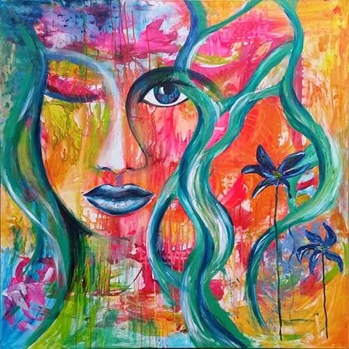 Intuitív festmény alakulása