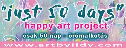 just 50 days – happy art project 2019