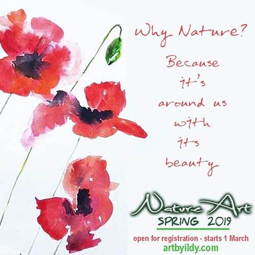 Why nature? NATUREART 2019 SPRING online workshop