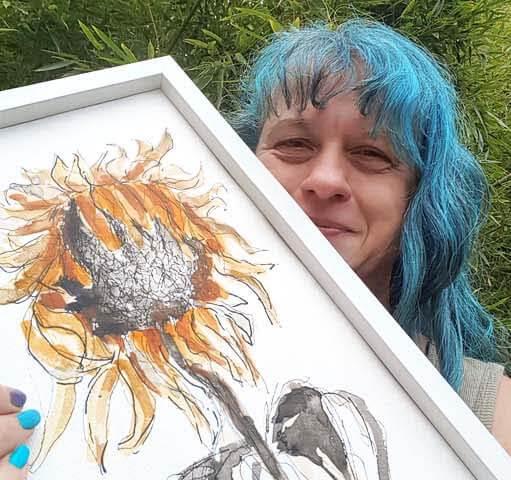 SKETCHBOOK REVIVAL 2020 withered sunflower